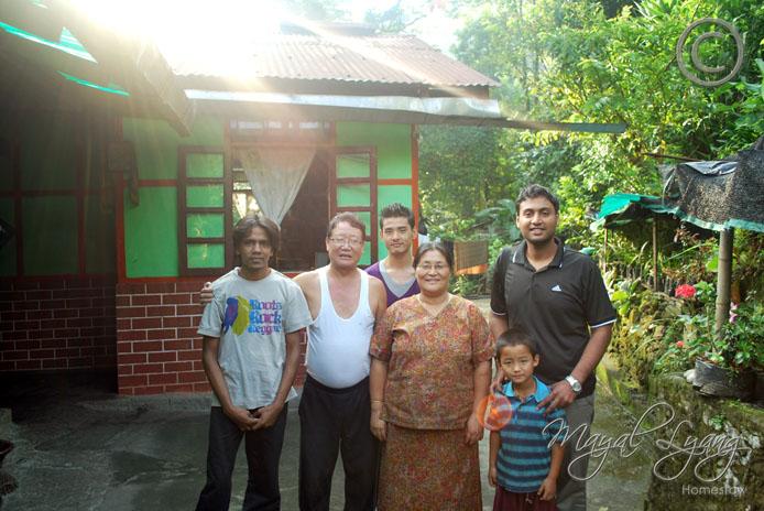 Ankit & Neeraj with the Gyatso's family