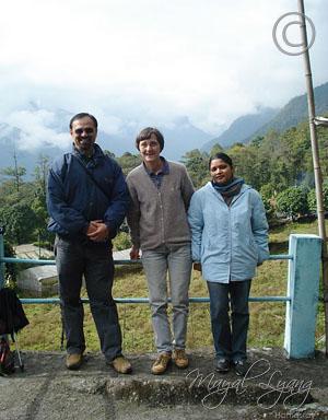 Deepak, Margret & Maya in Dzongu